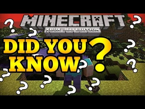 Minecraft (Xbox360) DID YOU KNOW - Secret Stairs & Door tricks