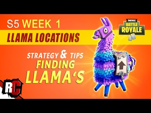 Fortnite | How to Find Llama Locations WEEK 1 Challenge (Best Spots for Supply Llamas Season 5)