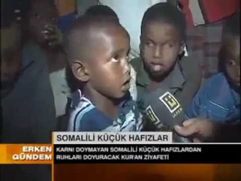 Somali Children In Drought Reciting Quran - القران الكريم video