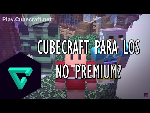 MINECRAFT: ¿Como entrar a Cubecraft? Sin Ser Premium | Review de Servidores No Premium