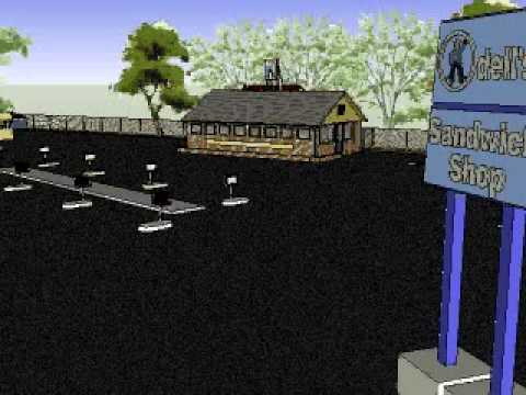 Odell's Sandwich Shop - Mount Airy, NC Google SketchUp Animation