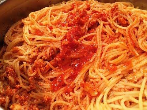 Как приготовить спагетти, пасту с соусом, Спагетти с фаршем и томатом, Готовим СОУС С ФАРШЕМ