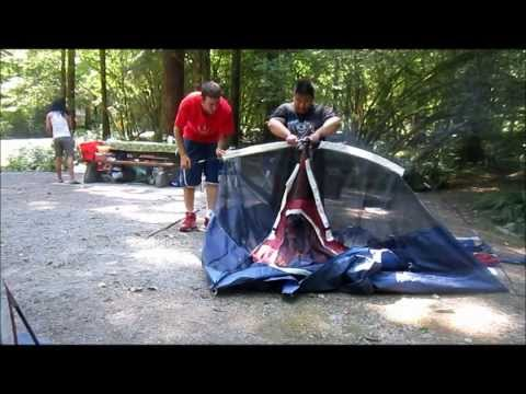 HOW TO SET UP A TENT!!