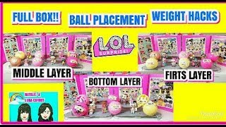 L.O.L SURPRISE CONFETTI POP WAVE 2 SERIES 3 FULL BOX|BALL PLACEMENT |WEIGHT HACKS THE TWINS FOUND !!
