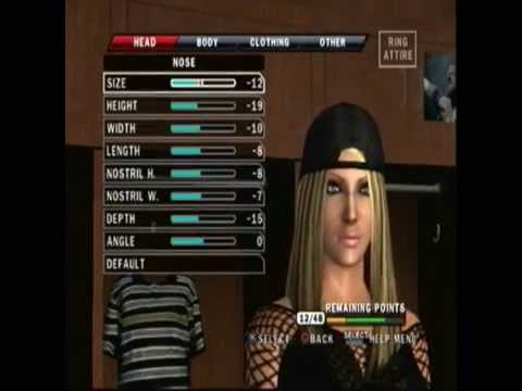 SVRSugar: Smackdown vs Raw 2010 Ashley Massaro Create A Wrestler (CAW) Format And Entrance
