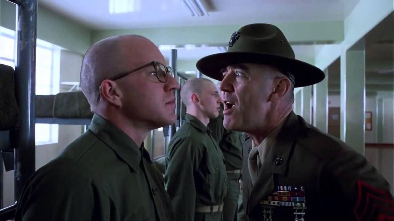 R Lee Ermey Yelling Full Metal Jacket - Gunnery