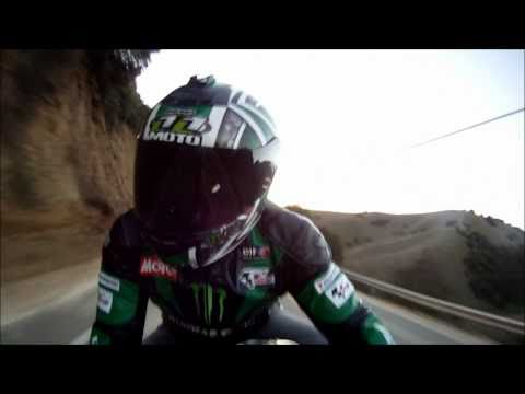 Motorcycle Leather Jacket. TurnBull Canyon. Going Up Hill. GoPro 960 HD Videro Test. VLOG