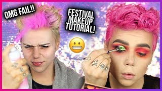I TRIED DOING A FESTIVAL MAKEUP TUTORIAL & KINDA FAILED lol Ft. Hush Prism Airbrush Sprays