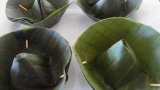 How to make Banana Leaf Cups