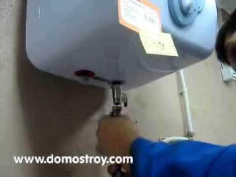 Видео как подключить водонагреватель