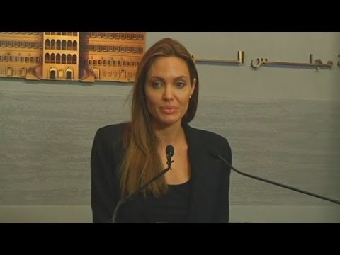 Angelina Jolie speaks of her hope for Syrian refugees during trip to Lebanon