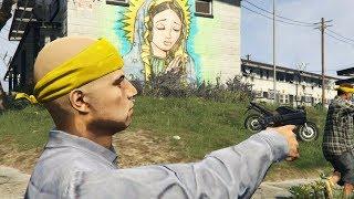GTA 5 Thug Life Ghetto Gang Shootout In The Hood