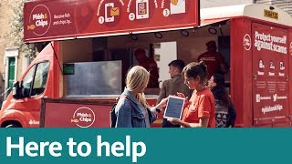 Here to Help | Santander Phish & Chips van delivers tips to avoid phishing scams