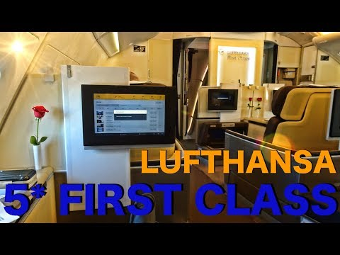 LUFTHANSA FIRST CLASS | LOS ANGELES-FRANKFURT | AIRBUS A380