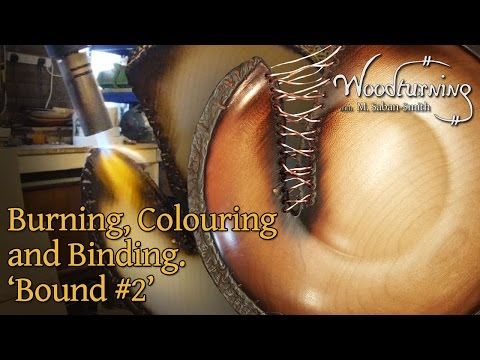 Woodturning, Scorching, Colouring and Copper Binding 'Bound #2'