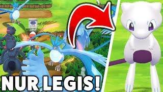 Was passiert wenn es NUR LEGENDÄRE POKÉMON in Pokémon Let's Go Pikachu & Evoli gibt?