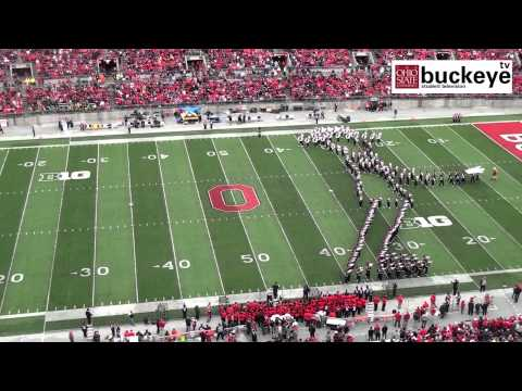 Ohio State Marching Band michael Jackson Tribute - Halftime Vs. Iowa: 10-19-13 video