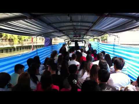 Riding In A Bangkok Canal Boat