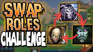 Smite: THE SWAP ROLES CHALLENGE - 3v3 Joust - CAN I GET THE ONE SHOT?