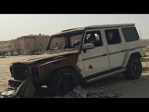 Mercedes G Wagon Burst Into Flames In Dammam, Saudi Arabia
