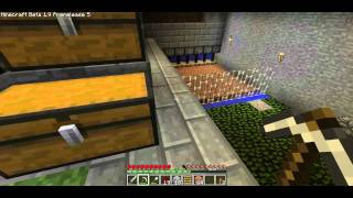 Minecraft Lets Play S2E2 - Cow, Chicken, Egg, Wheat Farm ALL IN ONE