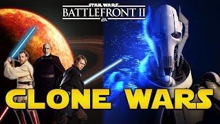 CLONE WARS DLC - GRIEVOUS, OBI-WAN, ANAKIN & DOOKU + Geonosis & Conquête! | Star Wars Battlefront 2