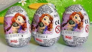 Sofia The First Surprise Eggs Zaini Disney Princess - Huevos-Sorpresa Ovetti di Cioccolato 3D