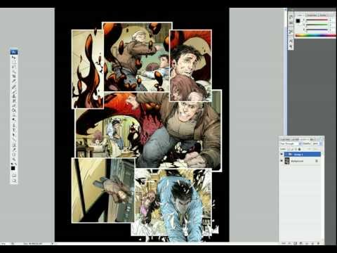 McFarlane Art Lesson - (How to Ink a Comic Book Page)