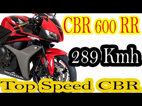 CBR 600 RR 2004 289 kmh Top Speed