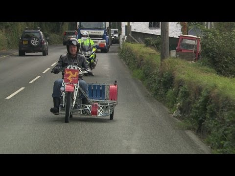 James May rides his Meccano motorbike - James May s Toy Stories: The Motorcycle Diary - BBC Two
