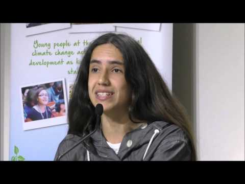Xiuhtezcatl Martinez (Earthguardians) speaking and rapping on Youth, Music and Climate Change