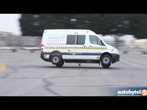 2013 Mercedes Sprinter Tour ESP Obstacle Avoidance Demo & Car Safety Test Video