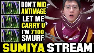 TOXIC Mid Antimage Meets 7K MMR Smurf | Sumiya Invoker Stream Moment #1362