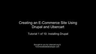 Drupal and Ubercart: Setting up an e-Commerce Site