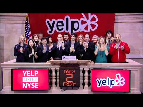 Yelp Lists IPO on the NYSE rings the NYSE Opening Bell