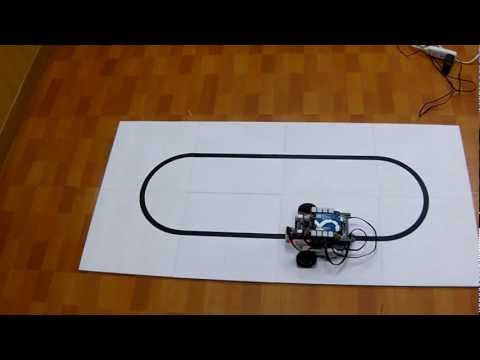 Arduino line following robot with P control method #1