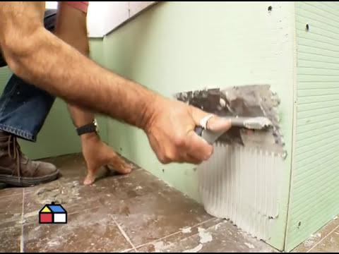 Cómo tener una superficie rugosa  para instalar cerámicas?