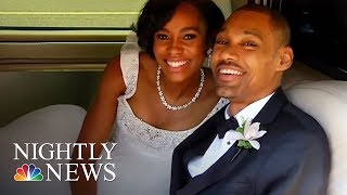 Partially Paralyzed Former Olympic High Jumper Walks Wife Down Aisle | NBC Nightly News