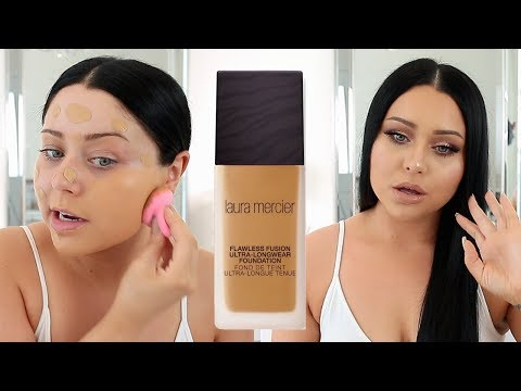 BEST NEW FOUNDATION? Laura Mercier Flawless Fusion First Impression Review
