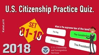 US Citizenship Practice Quiz (Set 1-10)