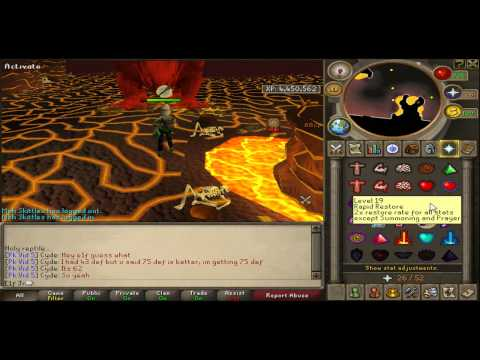 Runescape 1 Defence Pure Jad Killing/Luring Guide with In Game Sounds and Commentary!