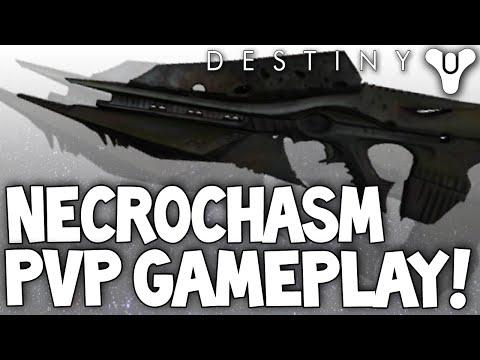 Destiny: Necrochasm PvP Gameplay - Exotic Hard Raid Crota's End Auto Rifle (Crux Of Crota)