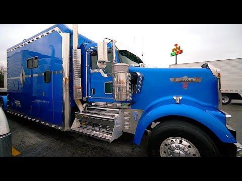 Дальнобой. США. Длинная фура. Kenworth  340 inch wheelbase