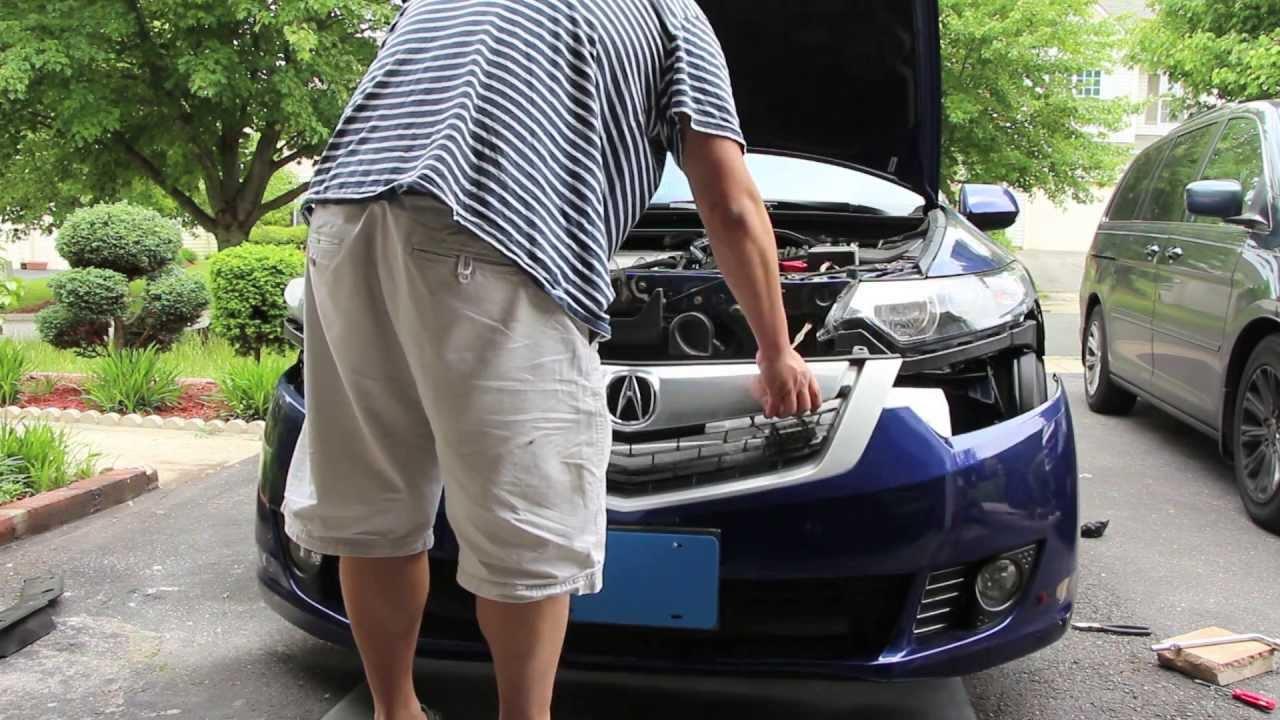 Acura Tsx Front Bumper Removal 2009 2014 Cu2 Accord Euro