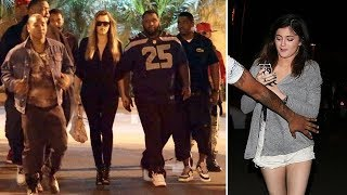 Kylie Jenner And Khloe Kardashian Team Up With Rapper The Game For Charity Event [2014]