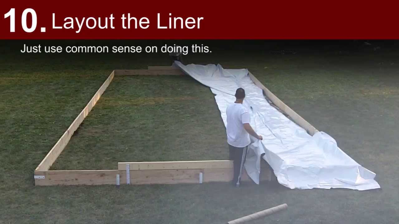 Ultimate Backyard Rink : Building a Backyard Ice Rink  Iron Sleek Style  YouTube