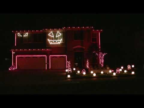 Halloween Light Show 2010 Hd - Thriller ( Michael Jackson ) video