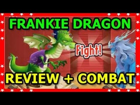 FRANKIE DRAGON Halloween Island Review in Dragon City and Combat Bonus