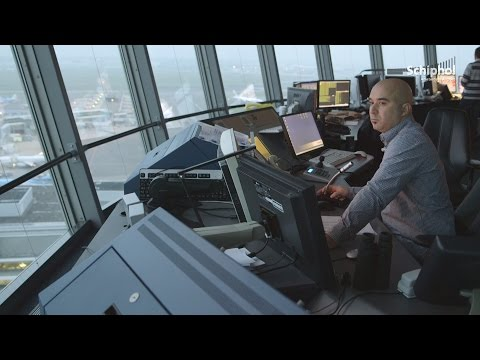 What goes on in the tower at Schiphol besides air traffic control?