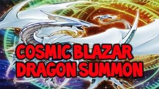Yugioh! Summoning 3x Cosmic Blazar Dragon's! With Decklist! December 2016!